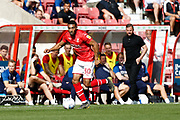Swindon Town winger Keshi Anderson during the EFL Sky Bet League 2 match between Swindon Town and Macclesfield Town at the County Ground, Swindon, England on 14 September 2019.