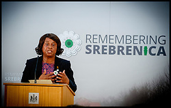 Image ©Licensed to i-Images Picture Agency. 08/07/2014. London, United Kingdom. Baroness Doreen Lawrence speaking at the Srebrenica Memorial Reception at Lancaster House. Picture by Andrew Parsons / i-Images
