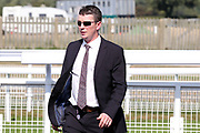 Trainer of TAKE COVER winner of The Listed William Hill Beverley Bullet Sprint Stakes over 5f (£60,000)  David Griffiths  during the Beverley Bullet Day at Beverley Racecourse, Beverley, United Kingdom on 1 September 2018. Picture by Mick Atkins.