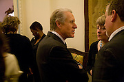 the Italian Ambassador, Baroness Margaret McDonagh and Simon Kelner, Launch of  ñMy Beautiful Gameî by Nancy DellÍOlio<br />