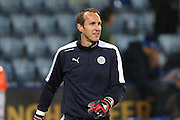 Leicester City goalkeeper Mark Schwarzer (32)  during the Barclays Premier League match between Leicester City and Newcastle United at the King Power Stadium, Leicester, England on 14 March 2016. Photo by Simon Davies.
