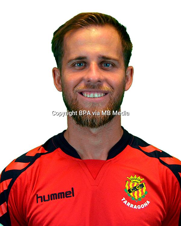 Spain - La Liga B 123 _ 2016-2017 / <br /> ( Club Gimnastic de Tarragona ) - <br /> Miguel Angel Cordero Sanchez &quot; Miguel Angel Cordero &quot;