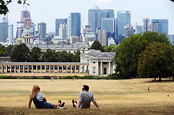 &copy; Licensed to London News Pictures. 07/08/2018<br /> GREENWICH, UK.<br /> People enjoying the hot weather in Greenwich Park, Greenwich.<br /> Photo credit: Grant Falvey/LNP