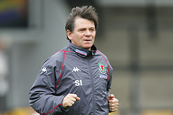 SWANSEA, WALES - TUESDAY MARCH 22nd 2005: Wales' assistant coach Salvador Iriarte during training at Swansea City's Vetch Field Stadium. (Pic by David Rawcliffe/Propaganda)