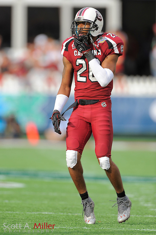 South Carolina Gamecocks linebacker Antonio Allen (26) during the Capital One Bowl against the Nebraska Cornhuskers at Florida Citrus Bowl on Jan. 2, 2012 in Orlando, Fla. South Carolina won 30-13...©2012 Scott A. Miller
