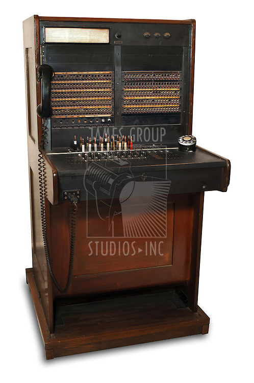vintage telephone switchboard station