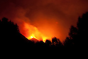 Idaho, Ketchum, Sun Valley, Baldy, burning, Guyer Ridge, night, fire, sky, Castle Rock Fire, August 2007
