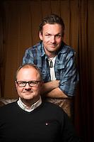 Ringebu, 201535: Alpinlandslagets trekker Håvard Tjørholm og sportssjef Claus Ryste fotografert for Audi magasinet FOTO: TOM HANSEN