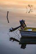 Aktersnurra på båt i Stockholms skärgård. / Stockholms archipelago Sweden.