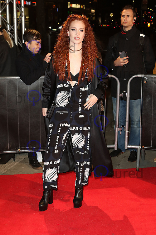 Jess Glynne, The Naked Heart Foundation's Fabulous Fund Fair, Roundhouse, London UK, 21 February 2017, Photo by Richard Goldschmidt