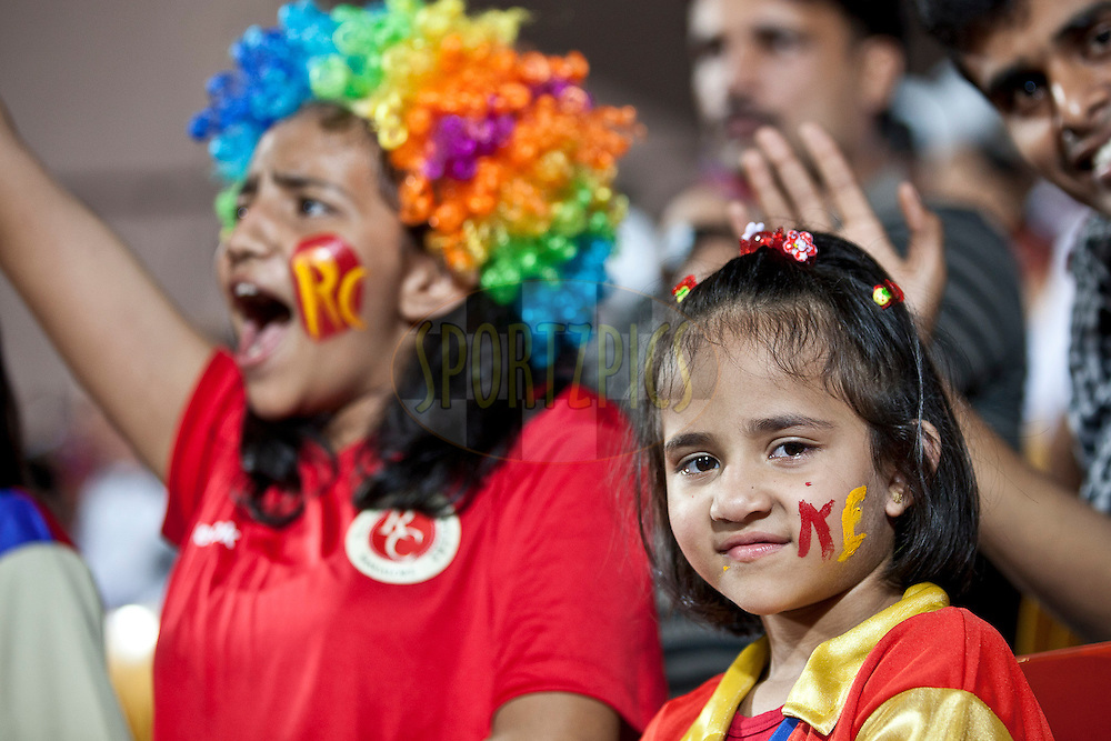 Fans during match 35 of the the Indian Premier League ( IPL ) Season 4 between the Royal Challengers Bangalore and the Pune Warriors held at the Chinnaswamy Stadium, Bangalore, Karnataka, India on the 29th April 2011..Photo by Saikat Das/BCCI/SPORTZPICS