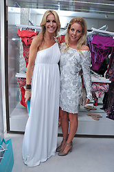 Left to right, MELISSA ODABASH and LYDIA ROSE BRIGHT (Wearing Melissa Odabash) from TV's Only Way is Essex at the opening of the new Melissa Odabash store in Walton Street, London SW3 on 7th July 2011.