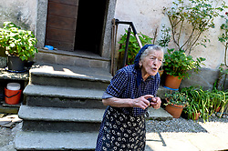 Paolina Grassi is the last and only inhabitant of the village Socraggio in the Cannobina Valley, Italy