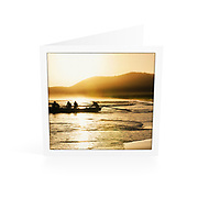 Photo Art Greeting Card | South West Rocks Collection | Golden Morning, Main Beach | Printed on lightly textured matte art paper stock, blank inside. White envelope included, packaged in sealed poly bag. Dimensions: Card 123 x 123mm. Envelope 130 x 130mm.<br />