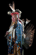 Jeff Sanders,Warm Springs Pow Wow,Oregon,USA.(Model release 0098)