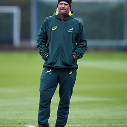 LONDON, ENGLAND - OCTOBER 30: Jacques Nienaber (Defence Coach) of South Africa during the South African national rugby team training session at Latymer Lower School on October 30, 2018 in London, England. (Photo by Steve Haag/Gallo Images)
