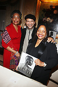 l to r: Pamela Greene, Khepera Burns and Dr. Deb Willis at the Weeksville Heritage Society Awards and book celebration for ' Posing Beauty ' sponsored by The Weeksville Heritage Society and held at The Jumeirah Essex House hotel on Novemeber 16, 2009