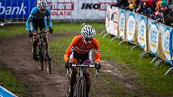Lars VAN DER HAAR (27,NED), 6th lap at Men UCI CX World Championships - Hoogerheide, The Netherlands - 2nd February 2014 - Photo by Pim Nijland / Peloton Photos