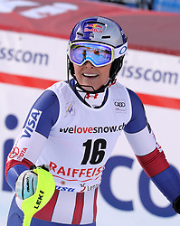 26.01.2018, Lenzerheide, SUI, FIS Weltcup Ski Alpin, Lenzerheide, Alpine Kombination, Damen, im Bild Lindsey Vonn (USA) // Lindsey Vonn from USA reacts after the Slalom competition for the ladie's Alpine combination of the FIS ski alpine world cup in in Lenzerheide, Austria on 2018/01/26. EXPA Pictures © 2018, PhotoCredit: EXPA/ Sammy Minkoff<br /> <br /> *****ATTENTION - OUT of GER*****
