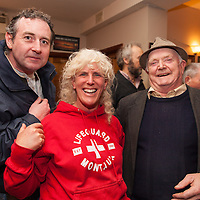 "local residents Simon Ryan, Karen Weekes and Tommy Foley at the launch of the single ""shame on you"" by the residents of Bell Harbour at Daly's Bar on Friday night"