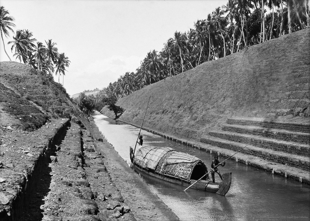War Kully Canal Near Quilon, India, 1929