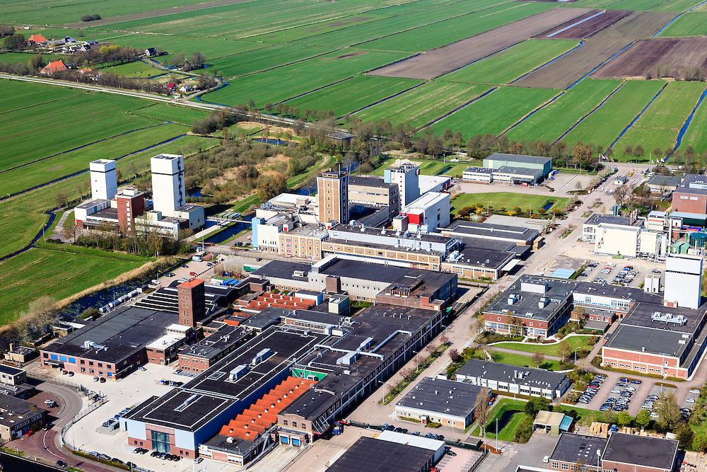 Nederland, Friesland, Gemeente Skarsterlan (Scharsterland), 01-05-2013; Joure, fabriek van Douwe Egberts met Haskerveenpolder in de achtergrond.<br /> Coffee Factory of the Douwe Egberts Company in the polder. <br /> luchtfoto (toeslag op standard tarieven)<br /> aerial photo (additional fee required)<br /> copyright foto/photo Siebe Swart
