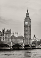 Big Ben stands over the Thames River in London, England on May 24, 2012.