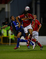 Photo: Steve Bond/Richard Lane Photography. Nottingham Forest v Sunderland. Pre Season Friendy. 29/07/2008. Michael Chopra (L) loses out to Kelvin Wilson (C)