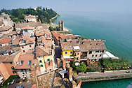 Sirmione, Lago di Garda, Italy, May 2009. The Medieval castle of Sirmione. Sirmione is a popular and pretty historical town perched on a headland and surrounded by the waters of Lake Garda. The northern part of the lake area is loved by sportive people, while the south is known for its relxed atmosphere. Photo by Frits Meyst/Adventure4ever.com
