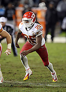 Kansas City Chiefs running back Jamaal Charles (25) goes out for a pass during the NFL week 12 regular season football game against the Oakland Raiders on Thursday, Nov. 20, 2014 in Oakland, Calif. The Raiders won their first game of the season 24-20. ©Paul Anthony Spinelli