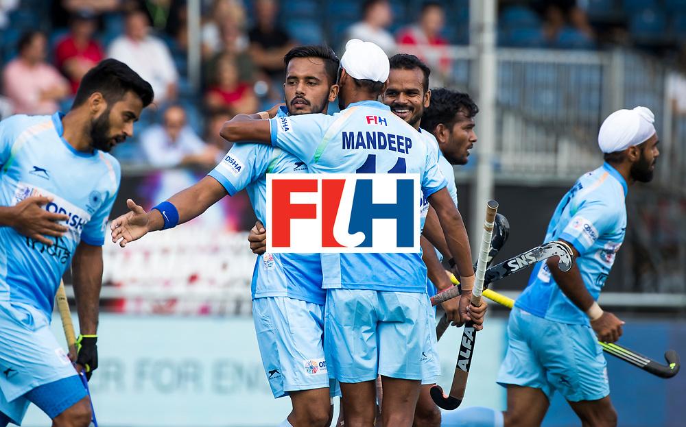 BREDA - Harmanpreet Singh (Ind.) scoort 1-0.       India-Belgie .  Rabobank Champions  Trophy `2018 .  COPYRIGHT  KOEN SUYK