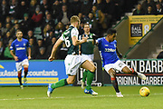Alfredo Morelos on the ball during the Ladbrokes Scottish Premiership match between Hibernian and Rangers at Easter Road, Edinburgh, Scotland on 19 December 2018.