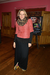 BAY GARNETT at a screening of the short film The Chase hosted by Jade Parfitt at The Soho Hotel, 4 Richmond Mews, Soho, London on 22nd February 2015.