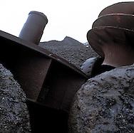 Acierie Cockerill-Sambre / ArcelorMittal, Charleroi, Belgique.<br /> // Steel factory Cockerill-Sambre / ArcelorMittal, Charleroi, Belgium.