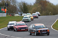#44 Peter MILNE VW Golf GTi Mk2 during Teekay Couplings Mk2 Production Gti Championship - Race 4  as part of the BRSCC Oulton Park Season Opener at Oulton Park, Little Budworth, Cheshire, United Kingdom. April 09 2016. World Copyright Peter Taylor/PSP. Copy of publication required for printed pictures.  Every used picture is fee-liable. http://archive.petertaylor-photographic.co.uk
