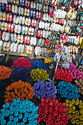Flower Market. Wooden tulips and shoes.