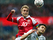 FOOTBALL: Christian Eriksen (Denmark) jumps for the ball during the Friendly match between Denmark and Germany at Brøndby Stadion on June 6, 2017 in Brøndby, Denmark. Photo by: Claus Birch / ClausBirch.dk.