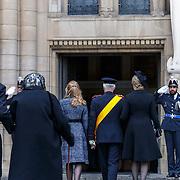 LUX/Luxemburg/20190504 -  Funeral<br /> of HRH Grand Duke Jean, Uitvaart Groothertog Jean, Belgisch Koningshuis arriveert bij de kerk