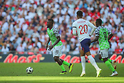 Nigeria forward John Ogu (19) during the Friendly International match between England and Nigeria at Wembley Stadium, London, England on 2 June 2018. Picture by Toyin Oshodi.