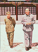 Mao Tse-Tung (Mao Zedong) 1893-1976, Chinese Communist leader, with Lin Piao (Lin Biao) 1907-1971, Chinese military leader and promoter of the 1966 Cultural Revolution.
