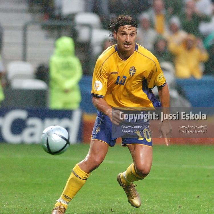 Zlatan Ibrahimovic, Sweden-Denmark 22.6.2004.&amp;#xA;Euro 2004.&amp;#xA;Photo: Jussi Eskola<br />