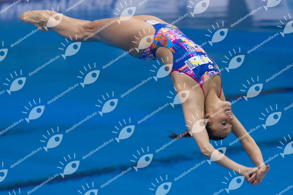 Tania CAGNOTTO ITA <br /> Gold Medal <br /> Women 1m Springboard Final <br /> London, Queen Elizabeth II Olympic Park Pool <br /> LEN 2016 European Aquatics Elite Championships <br /> Diving  <br /> Day 03 11-05-2016<br /> Photo Andrea Staccioli/Deepbluemedia/Insidefoto