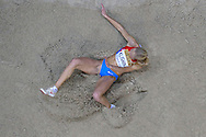 Darya Klishina of Russia competes in women's long jump qualification during the IAAF Athletics World Indoor Championships 2014 at Ergo Arena Hall in Sopot, Poland.<br /> <br /> Poland, Sopot, March 8, 2014.<br /> <br /> Picture also available in RAW (NEF) or TIFF format on special request.<br /> <br /> For editorial use only. Any commercial or promotional use requires permission.<br /> <br /> Mandatory credit:<br /> Photo by © Adam Nurkiewicz / Mediasport