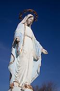 Photo Randy Vanderveen.Marie Reine, Alberta.11-05-05.Statue of Mary