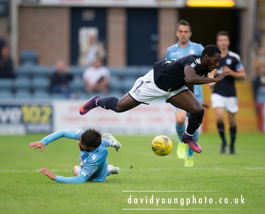 Bolton Wanderers' Jem Karacan downs Dundee's Roarie Deacon - Dundee v Bolton Wanderers pre-seson friendly at Dens Park, Dundee, Photo: David Young<br /> <br />  - © David Young - www.davidyoungphoto.co.uk - email: davidyoungphoto@gmail.com