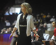 "Mississippi head coach Renee Ladner gestures against Vanderbilt at the C.M. ""Tad"" Smith Coliseum in Oxford, Miss. on Sunday, January 2, 2011. Mississippi won 72-67. (AP Photo/Oxford Eagle, Bruce Newman)"