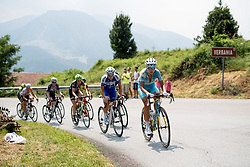 Ingrid Drexel (Astana Women's Team) leads the break up the climb at the final stage of the Giro Rosa 2016 on 10th July 2016. A 104km road race starting and finishing in Verbania, Italy.