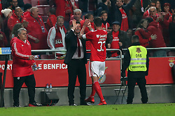 December 23, 2018 - Lisbon, Portugal - Benfica's Brazilian defender Jardel celebrates with Benfica's head coach Rui Vitoria after scoring a goal during the Portuguese League football match SL Benfica vs SC Braga at the Luz stadium in Lisbon on December 23, 2018. (Credit Image: © Pedro Fiuza/ZUMA Wire)