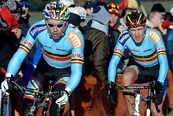 29-01-2006 WIELRENNEN: UCI CYCLO CROSS WERELD KAMPIOENSCHAPPEN ELITE: ZEDDAM <br /> Sven Nijs, Erwin Vervecken <br /> ©2006-WWW.FOTOHOOGENDOORN.NL