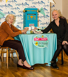 Pictured: Helena Zwavzka and Gail Porter.<br /> Gail Porter took the opportunity to launch Vintage Vibes Christmas card with Helena Zwavzka (94 on Thursday 16 November) at the Cuckoo's Bakery on Bruntsfield Place in Edinburgh today.